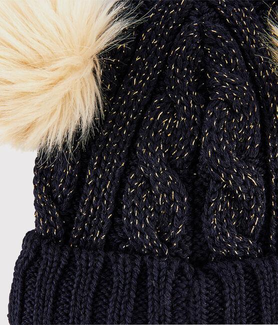 Girls' Woolly Hat Smoking blue / Or yellow