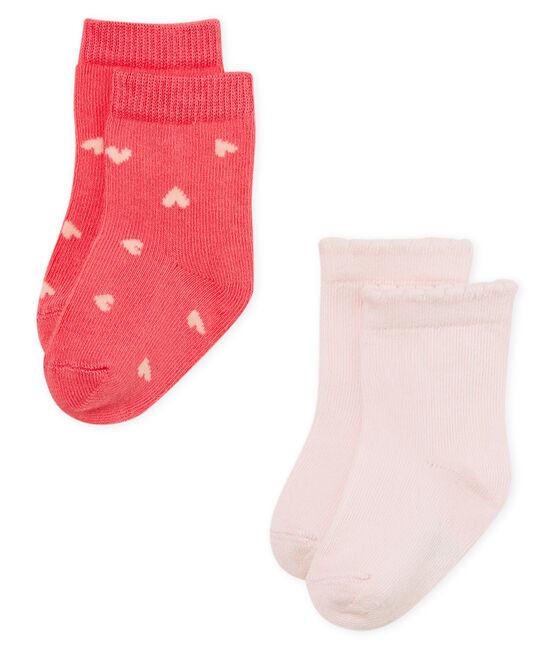 Baby girls' socks - pack of 2 . set