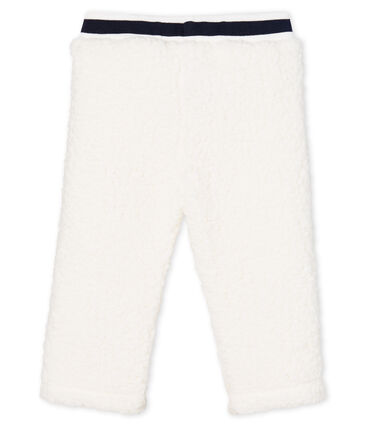 Unisex Baby Trousers in Sherpa Marshmallow white