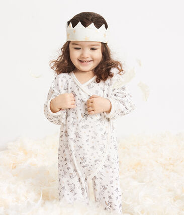 Rib Knit Baby Crown Marshmallow white / Or yellow