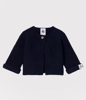 Babies' Cardigan Made Of 100% Cotton Knit SMOKING