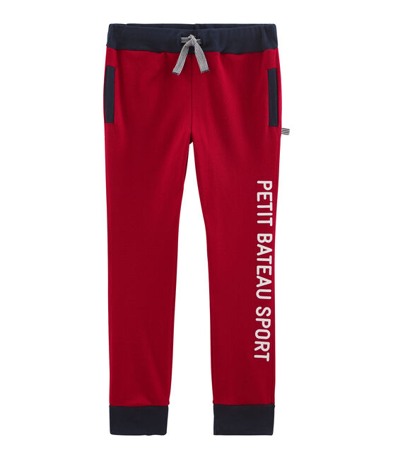 Boys' Ribbed Jogging Bottoms Terkuit red