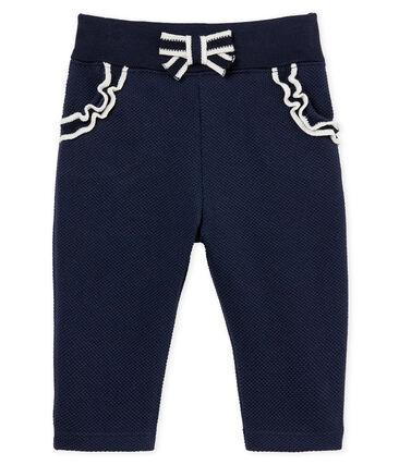 Baby girls' plain jersey trousers