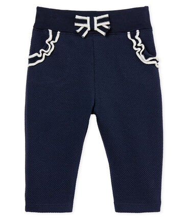 Baby girls' plain jersey trousers