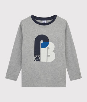 Boys Silkscreen Print T-shirt Subway grey