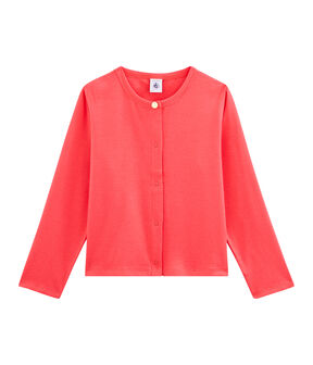 Girls' Cardigan Groseiller pink