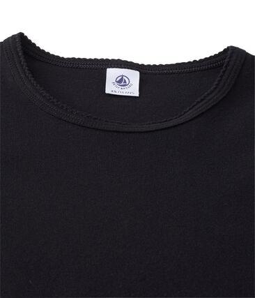 Women's short-sleeved plain t-shirt Noir black