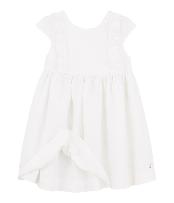 Girls' Formal Dress Marshmallow white