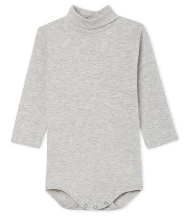 Unisex Babies' Long-Sleeved Roll-Neck Bodysuit Beluga grey