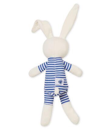 Rabbit rattle comforter Smoking blue / Marshmallow white