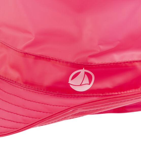 Children's bucket rain hat Geisha red