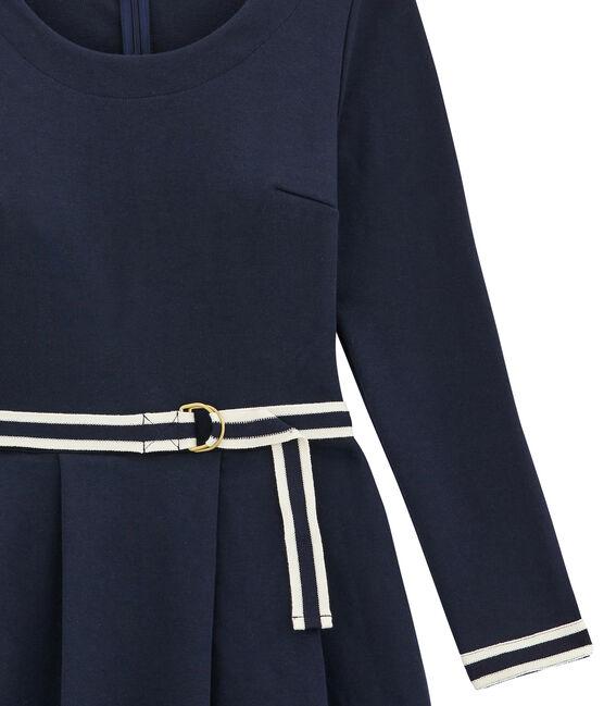 women's low waisted dress Smoking blue