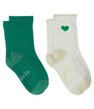 Girls' Socks - 2-Piece Set