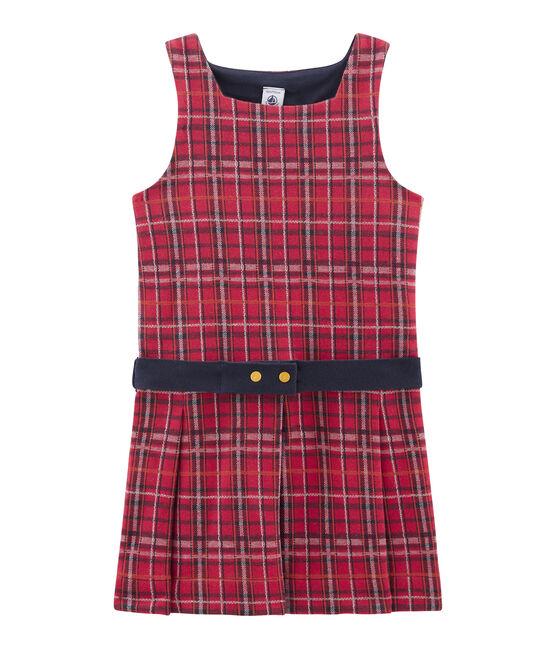 Girls' Sleeveless Dress Terkuit red / Multico white