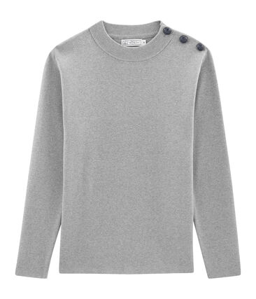 Men's Plain Sailor Pullover Subway grey