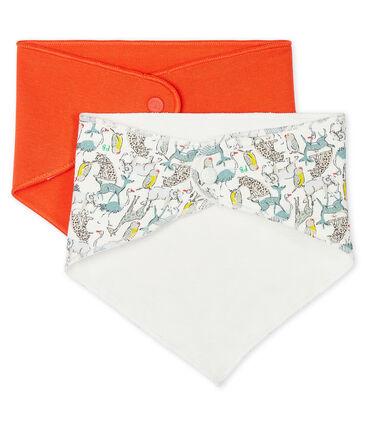Set of 2 bandana bibs for baby boys . set