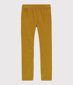 Girls' Velvet Trousers TOPAZE
