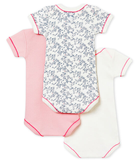 Baby girl's short sleeved body trio . set