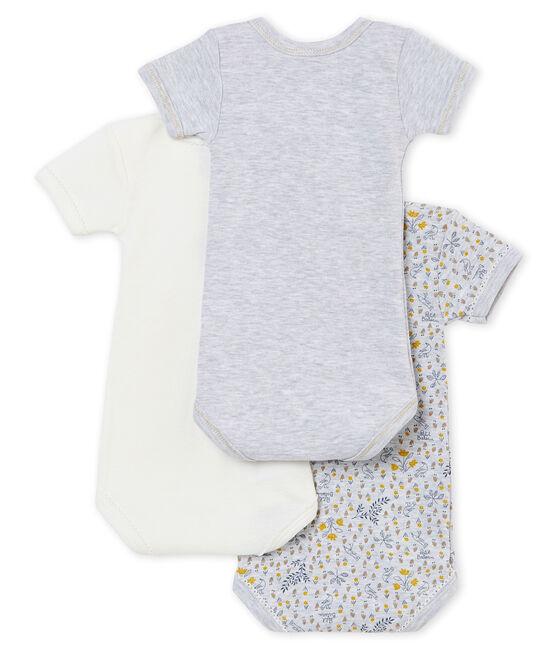 Baby girl's short sleeved body trio . set