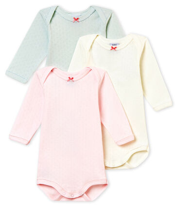 Baby girl's long sleeved body trio