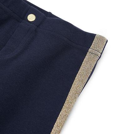 Girls' Knit Trousers Smoking blue