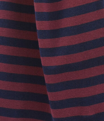 women's striped scarf Smoking blue / Ogre red