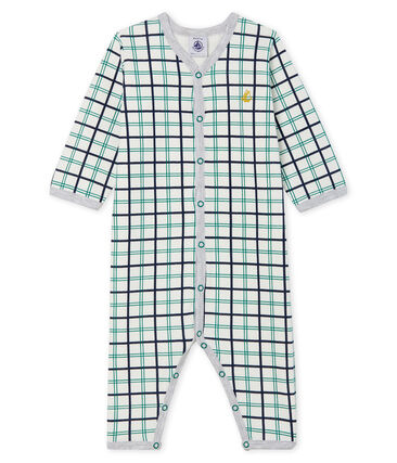 Baby Boys' Footless Tube Knit Sleepsuit Marshmallow white / Multico white