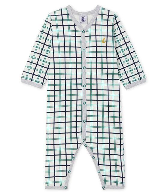 Baby Boys' Footless Tube Knit Sleepsuit Marshmallow white / Multico white