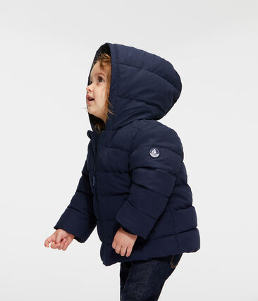 Baby Boys' Microfibre Down Jacket Smoking blue