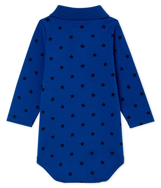Baby Boys' Long-Sleeved Polo Shirt with Collar Limoges blue / Smoking blue