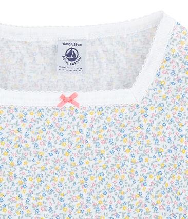Girl's calf-length print shortie pyjamas