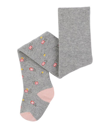 Baby Girls' Tights Charme pink / Subway grey