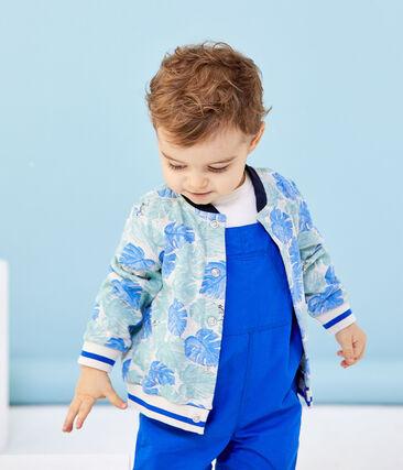 Baby boy's print cardigan Beluga grey / Multico white