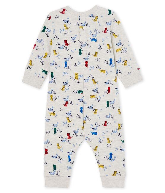 Baby Boys' Long Printed Jumpsuit Beluga grey / Multico white