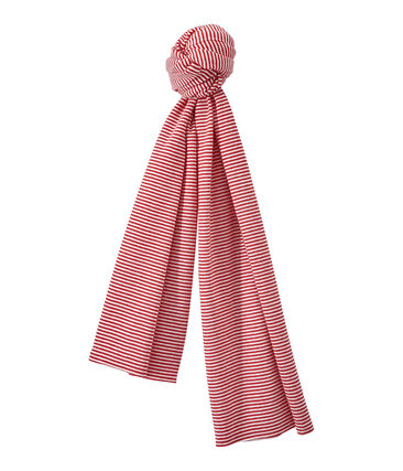 Child's milleraies-striped long scarf