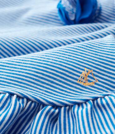 Baby Girls' Sleeveless Dress Riyadh blue / Marshmallow white