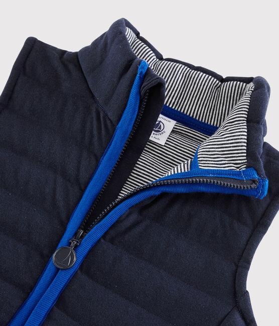 Children's Unisex Quilted Tube Knit Jacket Surf blue