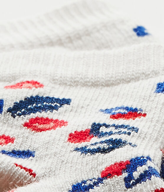 Baby girl's print socks Marshmallow white / Multico white