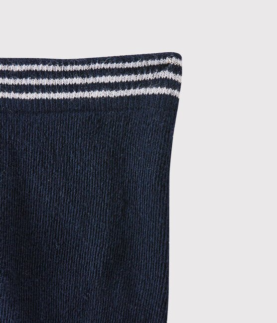 Baby girl's plain tights Abysse blue
