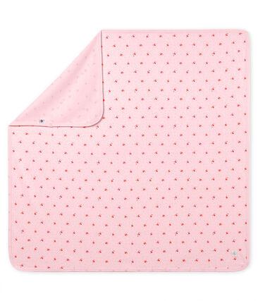 Unisex baby printed blanket Vienne pink / Multico white