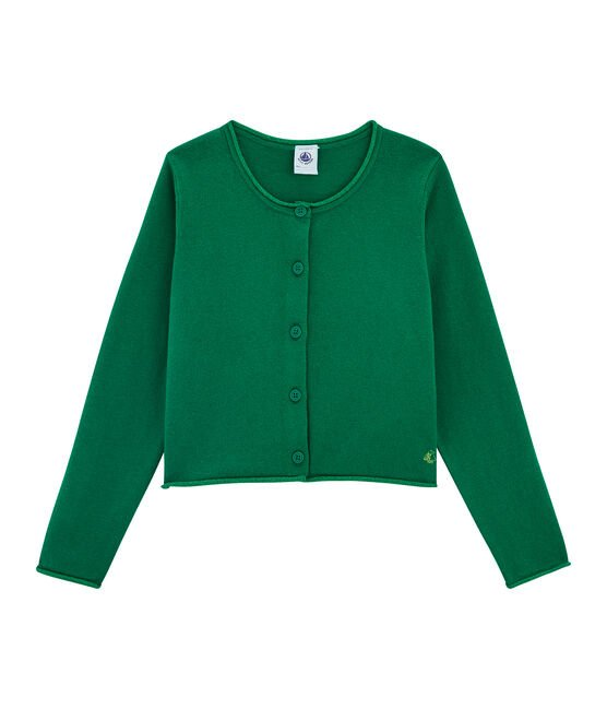 Girls' Knit Cardigan Ecology green