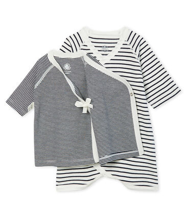 Baby Kimono Bodysuit and Undershirt Set in Rib Knit . set