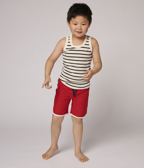 Boys' Recycled Swimming Trunks Terkuit red