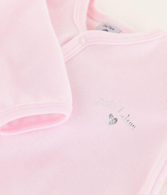 Baby Girls' Pink Velour Sleepsuit Vienne pink