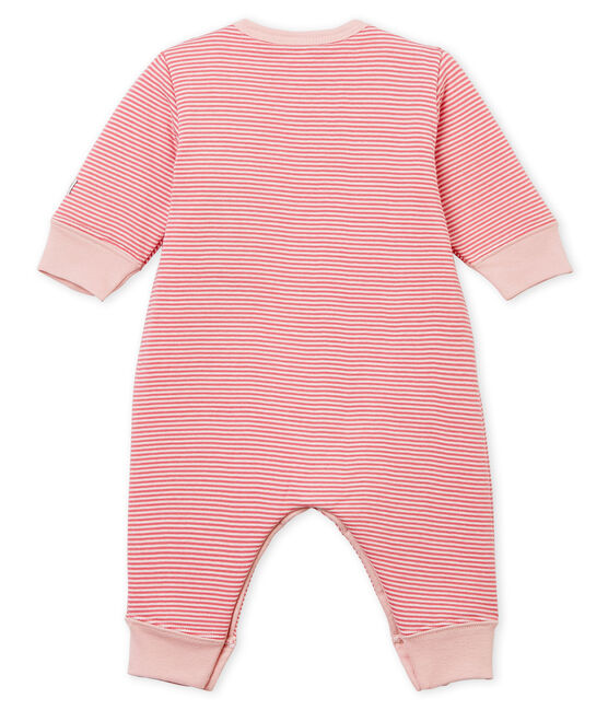 Baby Boys' Tube-Knit Footless Sleepsuit Cheek pink / Marshmallow white