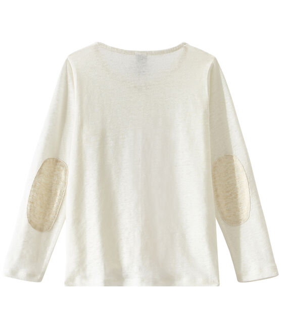 Girl's cardigan Lait white / Or yellow