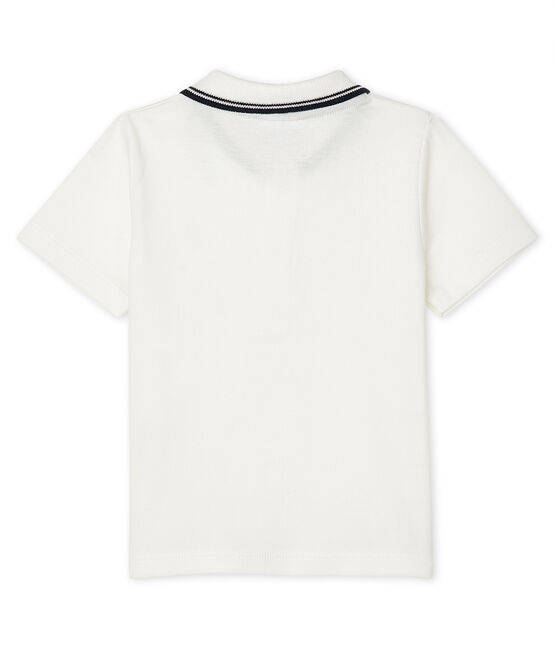 Baby Boys' Short-Sleeved Polo Shirt Marshmallow white