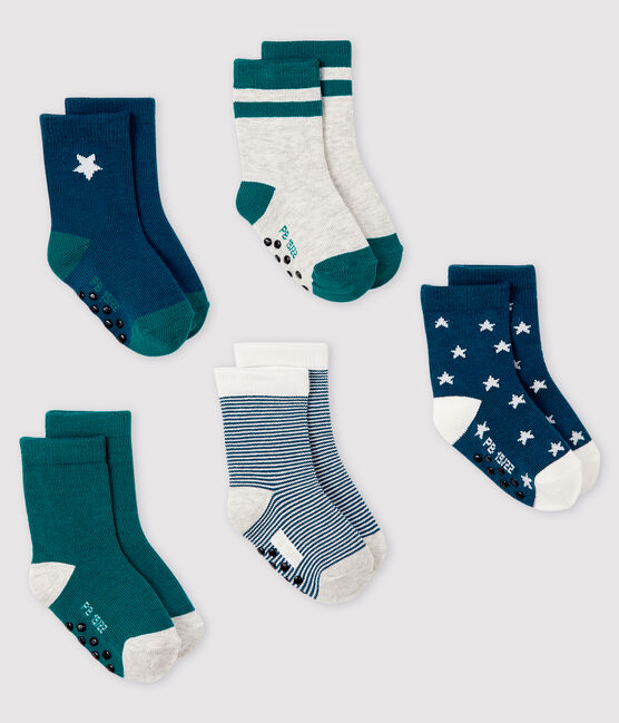 Pack of 5 pairs of baby socks . set
