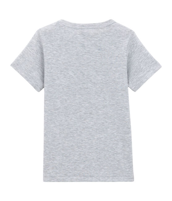 Little boy's short sleeved T-shirt Poussiere Chine grey