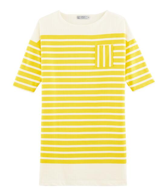 Women's Dress Shine yellow / Marshmallow white